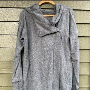 Lululemon Wrap Up Jacket Heathered Speckled Black